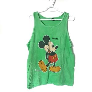 Mickey Mouse Lime Green Tank Top